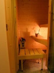 A relaxing sauna